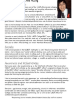 JCR LBGT Officer Manifesto 2010 - Chris Huang