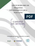 Seminário de Pesquisas em Andamento PGET UFSC - Cadernos de Artigos