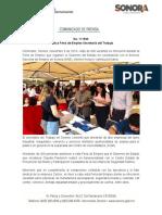 06-11-19 Realiza Feria de Empleo Secretaría del Trabajo