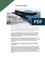 Diseño de aviones baja observabilidad