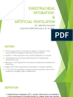 Intubation and Artificial Ventilation
