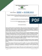 DITRA Resolución No. 00202 Del 260110 Estructura DITRA y Funciones Modificada