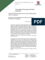 Formación y Desarrollo del Concepto de Justicia Educativa en Argentina