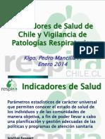 05. P Mancilla - Indicadores Sanitarios Nacionales - Vigilancia ERA 2014