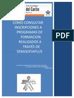 Consultar Inscripcion a Programas de Formacion Realizados en Senasofiaplus