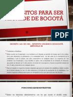 Requisitos Para Ser Alcalde de Bogotá