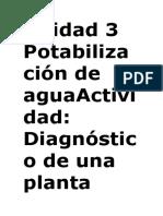 Unidad 3 Potabilización de AguaActividad