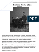Famous Inventors - Thomas Edison