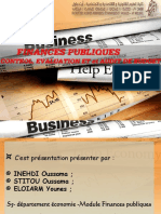 FINANCES PUBLIQUES ; CONTROL, EVALUATION ET et AUDIT DE BUDGET