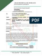 INFORME Nº 0018 Requerimeinto de Material Para Sector Maronilla