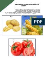 Alimentos Que Llegaron en El Descubrimiento de América