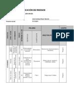 Ejercicio Práctico Matriz de Riesgo