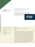 Nutritional Ecology Human Health