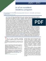 Características de un excelente programa de residencia de ortodoncia.