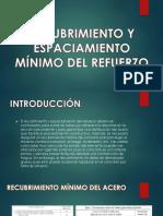 Recubrimiento y Espaciamiento Minimo Del Acero (1)