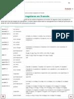 Tabla de Los Verbos Irregulares en Francés