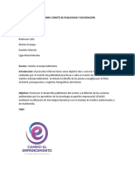 Informe Comité de Publicidad y Decoración