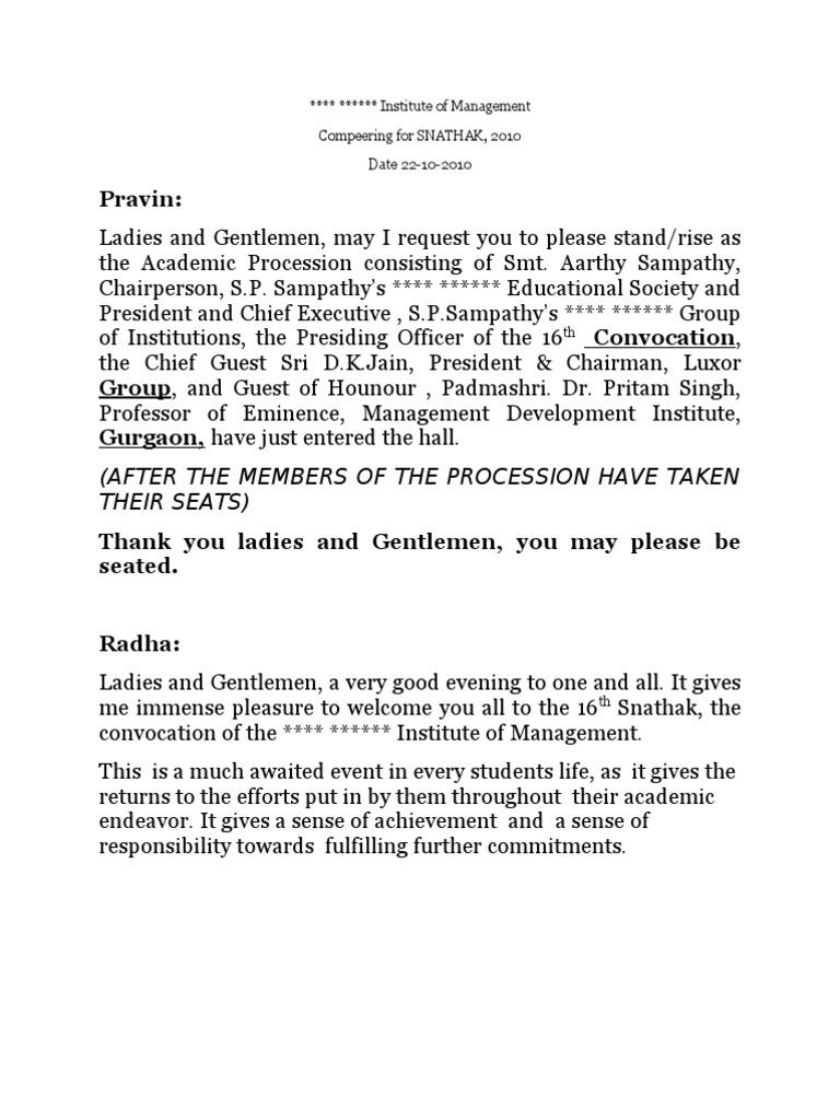 mc script sample for formal function pdf