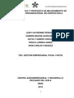 Diagnostico y Propuesta de Mejoramiento de Clima Organizacional a La Microempresa Mis Pequeños Traviesos