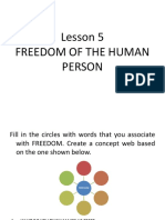 Lesson 5 Freedom of the Human Person