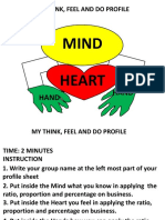 My Think, Feel and Do Profile