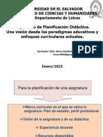 Planificacion y Programas de Asignatura