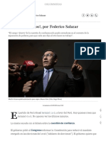 ¡No Más Espasmos!, Por Federico Salazar Columnistas _ El Comercio