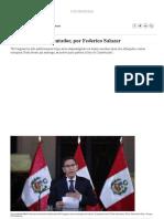 Intérprete y Quebrantador, Por Federico Salazar Columnistas _ El Comercio