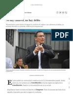 No Hay Cadáver, No Hay Delito; Por Federico Salazar Columnistas _ El Comercio
