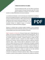 Legislación Colombiana en La Formación Docente