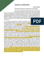 3. Jean Paul Sartre - Qué Es La Literatura