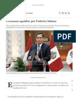 Presidente Agitador, Por Federico Salazar Columnistas _ El Comercio