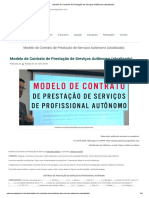Modelo de Contrato de Prestação de Serviços Autônomo (Atualizado)