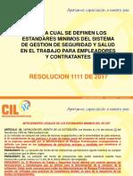 Resolucion 1111 De2017 Capacitacion