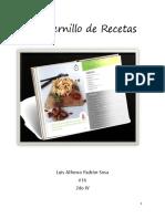 Cuadernillo de Recetas