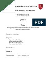 PRINCIPIOS QUIMICOS