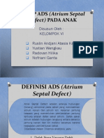 ASKEP ADS (Atrium Septal Defect) PADA