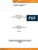 Taller Bàsico Aplicabilidad Niif - Actividad 3 - Unidad 2
