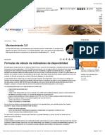 Formulas de cálculo de indicadores de disponibilidad