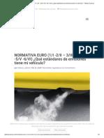 NORMATIVA EURO (1_I -2_II - 3_III- 4_IV -5_V -6_VI) ¿Qué estándares de emisiones tiene mi vehículo_ - Talleres Cuenca.pdf