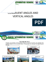 Congruent Angles and Vertical Angles