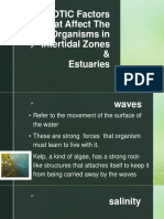 ABIOTIC Factors That Affect the Organisms in Intertidal