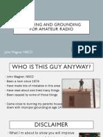 Bonding and Grounding for Amateur Radio