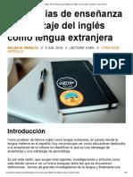 Estrategias de Enseñanza Aprendizaje Del Inglés Como Lengua Extranjera _ Vinculando