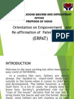 ERPAT Orientation DSWD