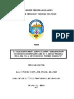 Angel B. Condori S. - Tesis de Licenciatura - UPLA - La Acusación Directa Como Garantía y Simplificación de Derechos Constitucionales en El CPP Del 2004 a Diferencias Del Proceso Inmediato