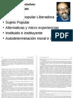 José Luis Rebellato Educación Liberadora y Sujeto Popular