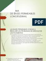 Sistema de Bases Permeables Longitudinal