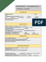 Formulário de parâmetros de Grafismos