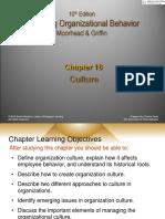Chapter 18- Organizational Culture